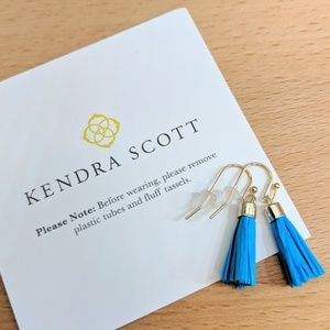Authentic Kendra Scott Raffia Tassels Aqua Custom